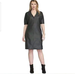 Roaman's faux leather black dress